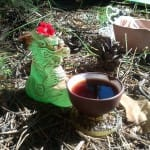 Дракоша на чайной церемонии